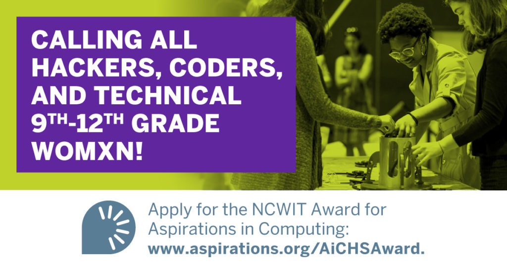 NCWIT Award for Aspirations in Computing Applications OPEN