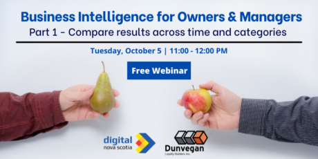 Business Intelligence for Owners & Managers Series – Compare results across time and categories