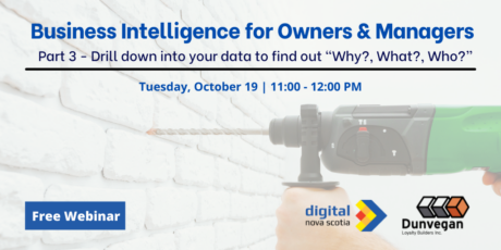 """Business Intelligence for Owners & Managers Series – Drill down into your data to find out """"Why?, What?, Who?"""""""