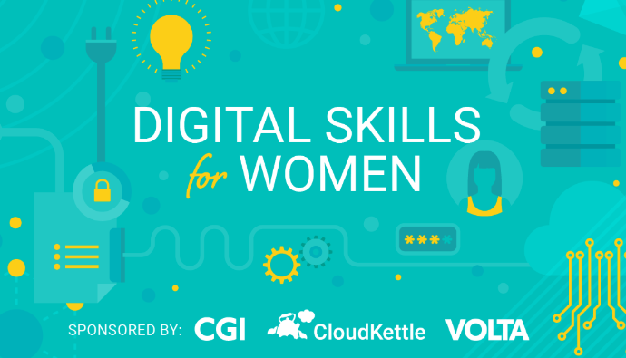 Applications for the Digital Skills for Women Spring 2019 cohort are now open!